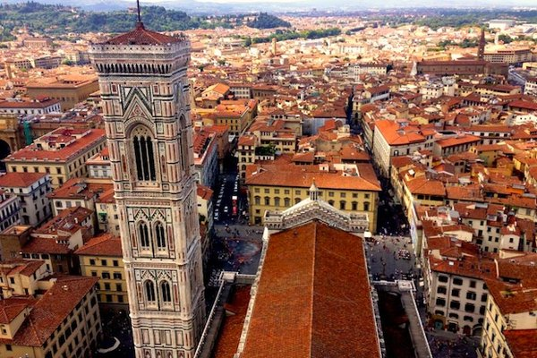 A view of Florence from the top of the Duomo