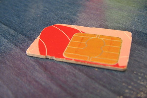 A SIM card similar to the type used in Motorola cell phones,