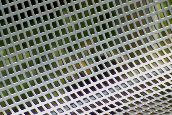 Perforated sheet metal may contain a regular pattern of square holes.