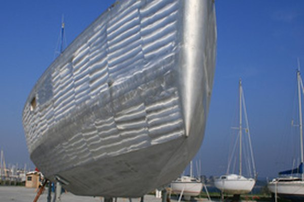 Aluminum is commonly used in the manufacture of boat hulls.