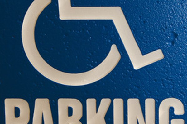 A handicapped placard allows you to park in a disabled person's parking space.