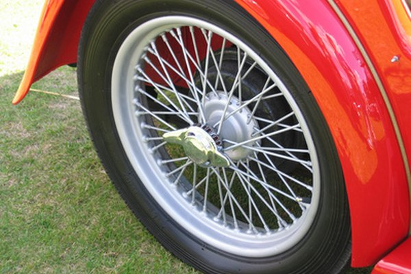 Wire wheels are often seen on restored muscle cars and sports cars.