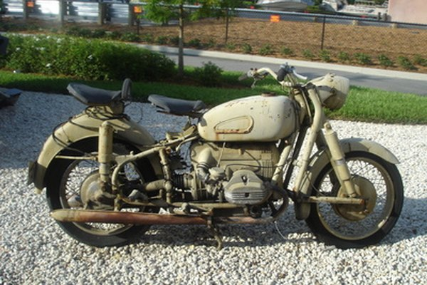 Does your vintage motorcycle have a rusted tank? Clean it out using electricity.