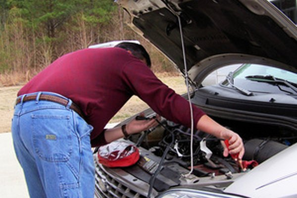 Car batteries supply a specific amount of voltage which powers the starter motor.