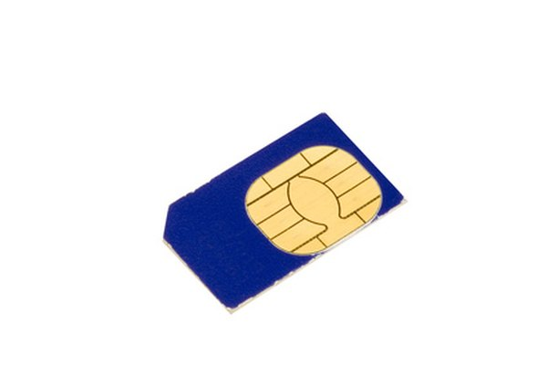 A typical SIM card.