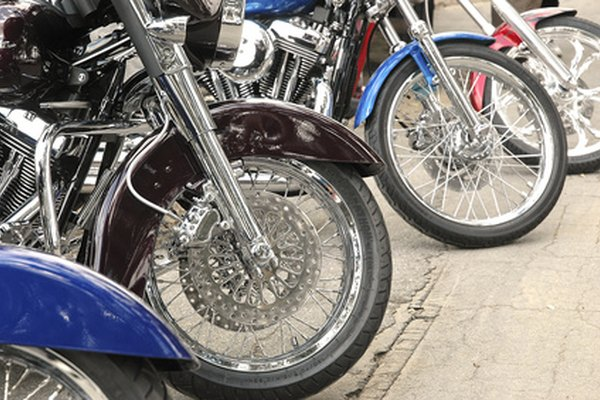 Aluminum motorcycle fork tubes can be polished to a near chrome-like shine.
