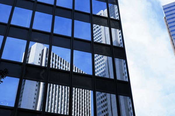 Windows on an office building can reflect sunlight and trim cooling costs.