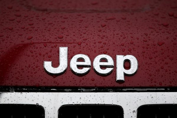 The Jeep logo is displayed on a new Jeep