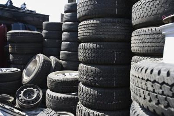 piles of stacked tires