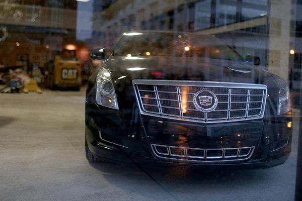 Cadillac on showroom display