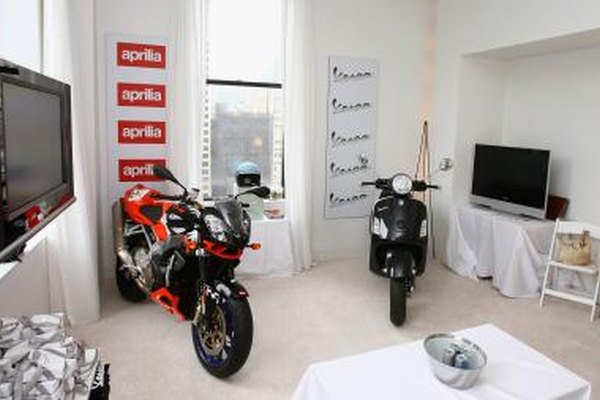 Aprilia and Vespa on display in New York City hotel room