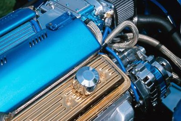 Close-up of automobile engine