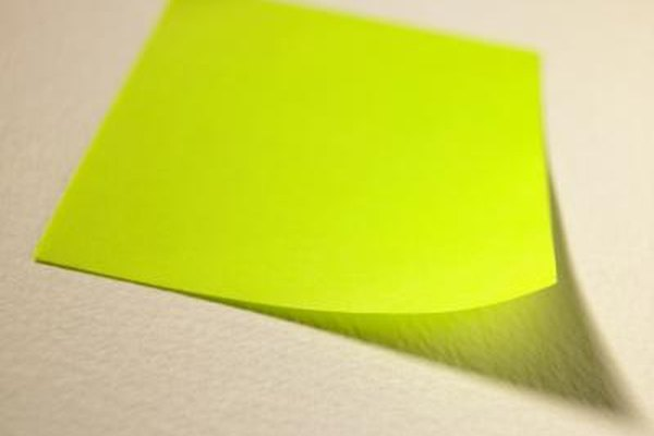 Printing typed Post-It Notes is not difficult.