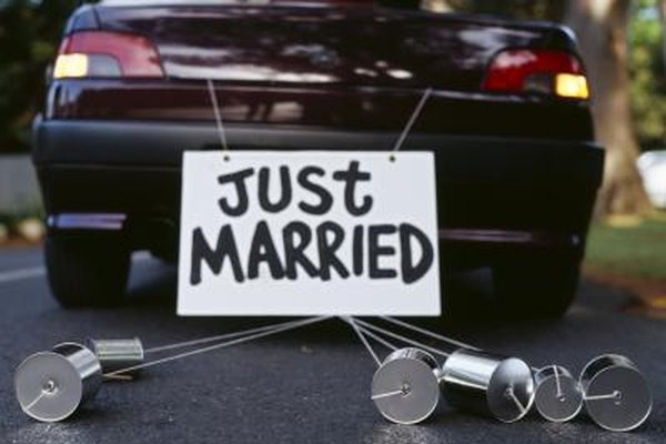 "You can also paint ""Just Married"" on your rear window."