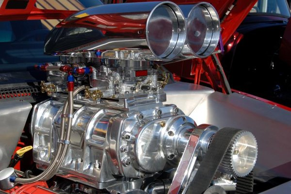A hot rod's engine.