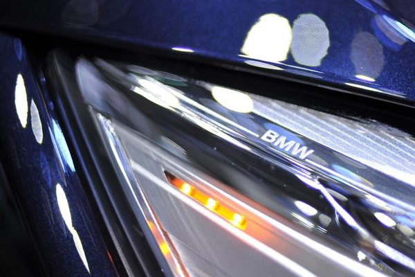 Detail of a BMW headlight