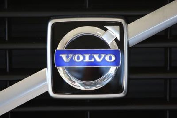 Volvo logo on car grille
