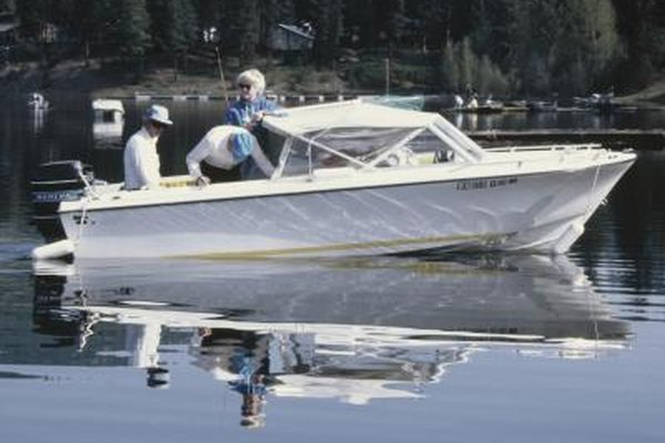 The interior hulls of fiberglass boats can be painted for durability.