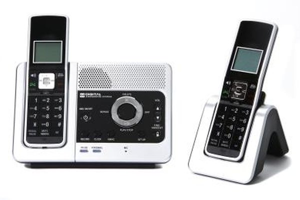 Cordless phones work with landlines.