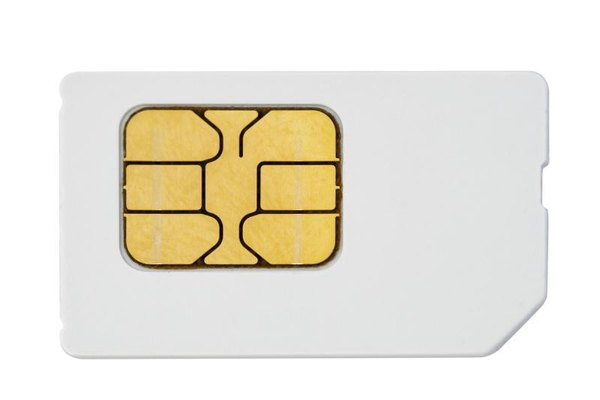 Insert the SIM card with this side up.
