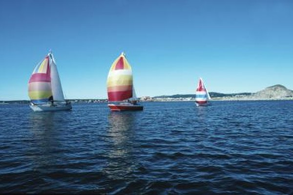 Spinnakers are often colorful so boats can be identified.
