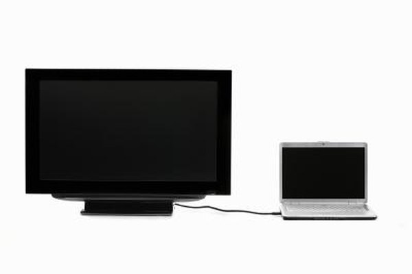 Connect your laptop to your HDTV to work on the larger monitor.