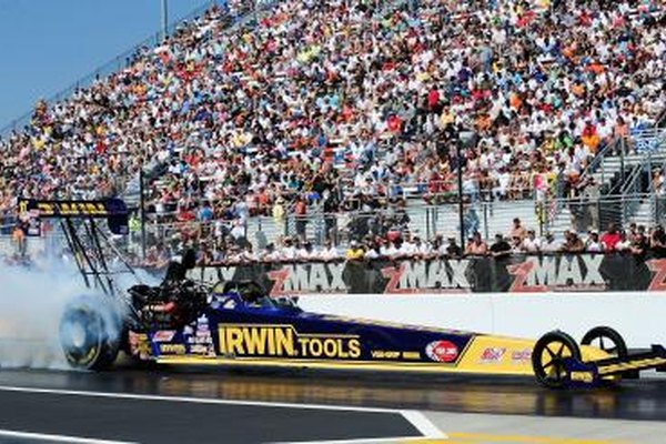 Top Fuel dragsters perform in the Top Fuel category in National Hot Rod Association events.