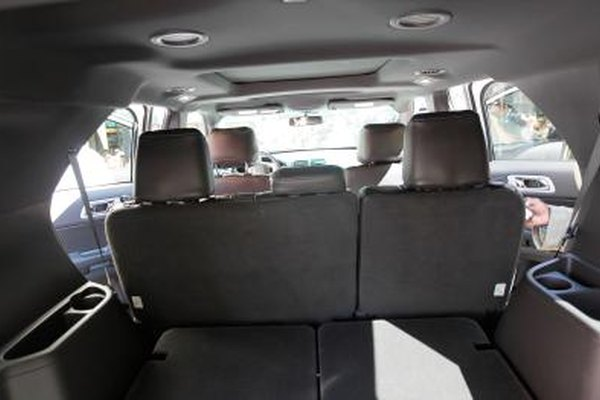 Ford Explorer with rear facing third row seats