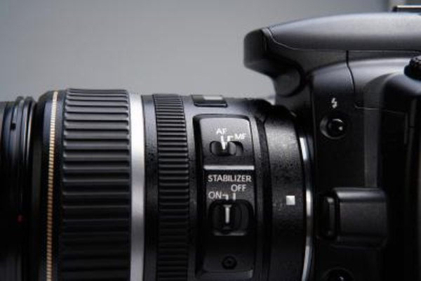Digital SLRs use memory cards, rather than film, to store photos.