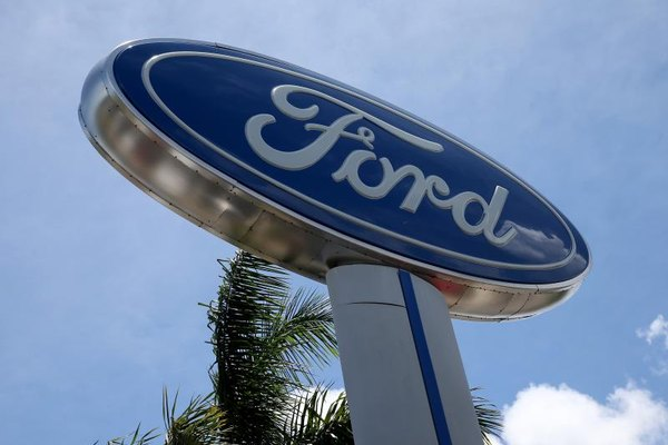 Large Ford automobile sign