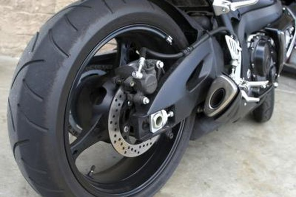 Rear tire of a sports bike