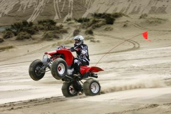Image of a man riding a four-wheeler.