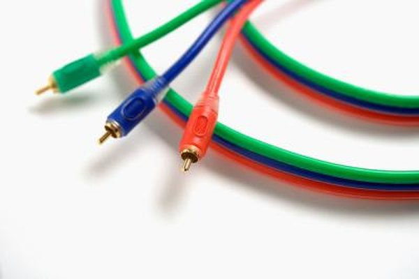 Component video cables split video into red, green and blue channels, while HDMI combines audio and video into one cable.