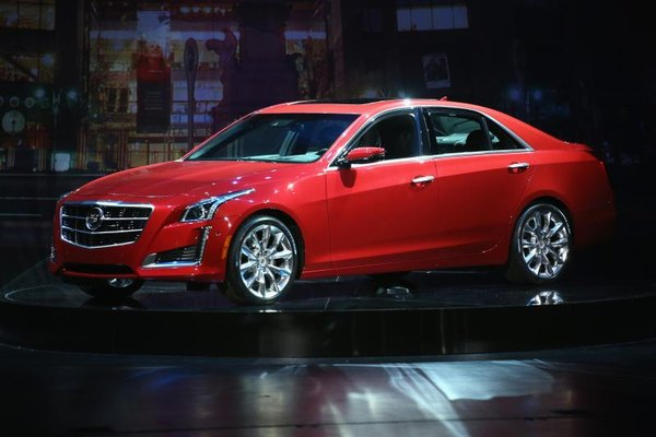 Cadillac CTS sits on display