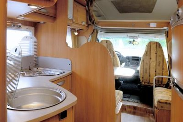 An interior view of a used RV.