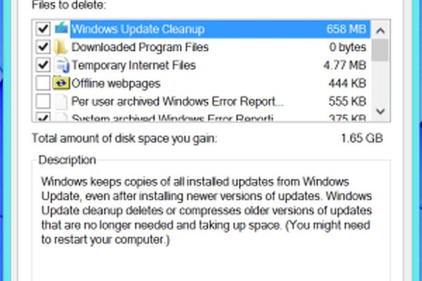 Disk cleanup removing junk files on Windows 8.1