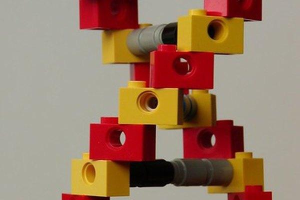 Una reproducción del ADN mediante bloques de construcción.