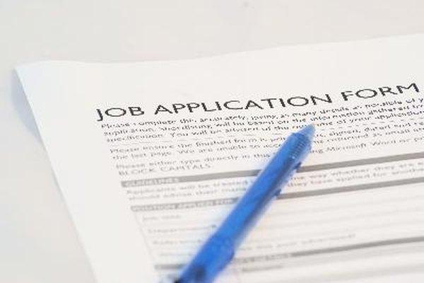 Un formulario para la aplicación a un trabajo le da a un empleador la mayor parte de la información necesaria.