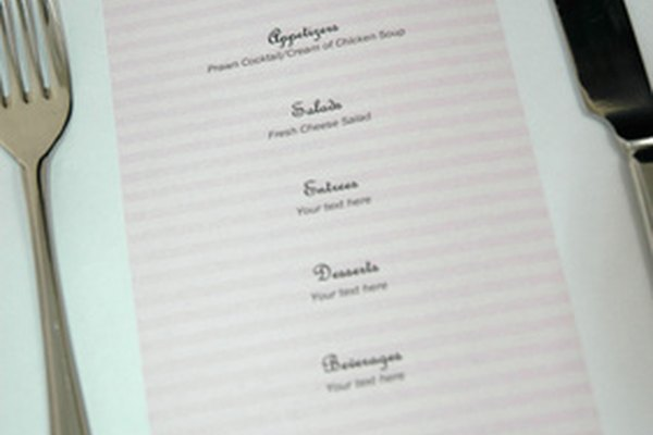 how to make a restaurant menu on word it still works