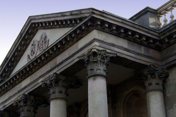 La mayoría de las columnas romanas eran de estilo corintio.