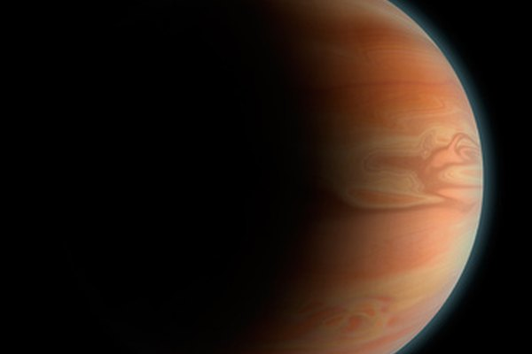 El planeta Júpiter visto con binoculares colimados.
