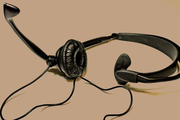 Workers at call centers often use headsets.