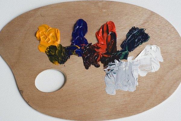 Las pinturas de aceite constan de al menos pigmento, aceite como aglutinante y relleno.