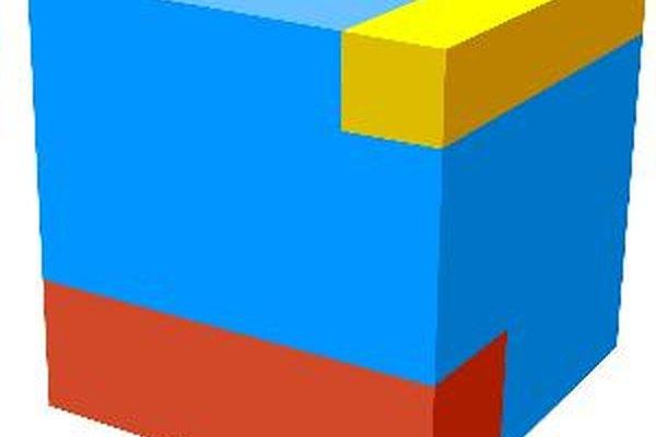 Se puede calcular el volumen de un cubo ya que es tridimensional.