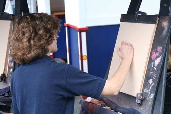 En las clases de arte introductorias se enseña el uso de una cuadrícula de ampliación.