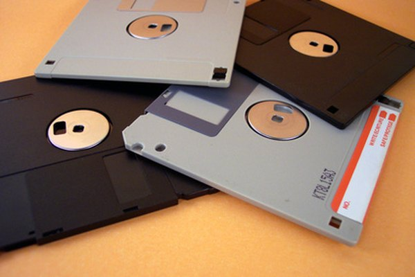 3.5 inch floppy disks were a major means of storage.