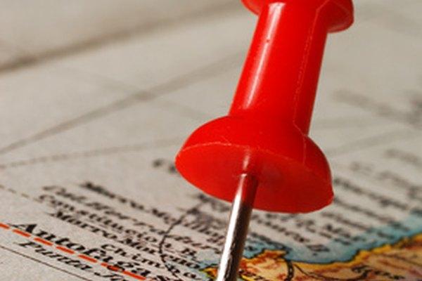 Los mapas de radio de kilometraje inician determinando un punto en el mapa.