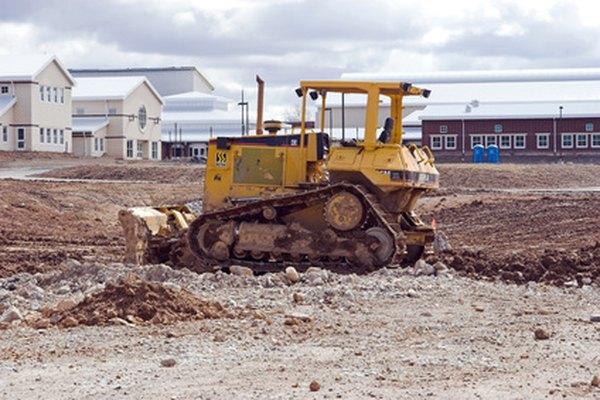 Es común ver al Caterpillar D8R en proyectos de construcción.