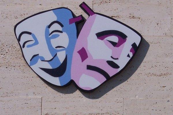 Las máscaras de drama datan de miles de años atrás.