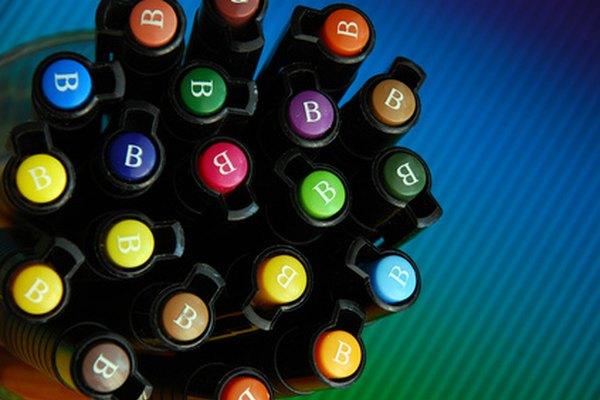 Los marcadores Copic vienen en una variedad de colores y no se lavan.